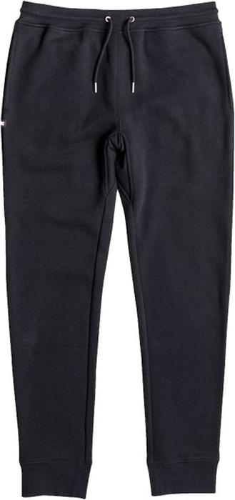 Брюки мужские DC Shoes Ellis, цвет: черный. EDYFB03041-KVJ0. Размер XXL (54)EDYFB03041-KVJ0Брюки от DC Shoes выполнены из хлопкового материала. Модель из плотного материала с изнаночной стороны с начесом. Брюки прямого кроя и стандартной посадки на талии дополнены шнурком-кулиской, имеются два боковых кармана и накладной задний карман. Штанины по низу дополнены трикотажными манжетами.