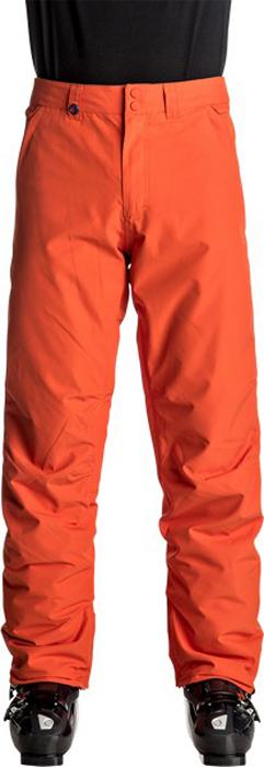 Брюки утепленные мужские Quiksilver Estate, цвет: оранжевый. EQYTP03064-NMS0. Размер XL (52)EQYTP03064-NMS0Сноубордические брюки Quiksilver Estate изготовлены из мембранной ткани (полиэстер простого плетения). В качестве утеплителя используется полиэстер (40 г). Подкладка выполнена из тафты и трикотажа с начесом. Предусмотрены вентиляционные прорези на сеточной подкладке. Все основные швы проклеены.Модель современного кроя имеет ширинку с застежкой-молнией и пояс на утяжке для регулировки размера. Спереди расположены два втачных кармана, сзади - два накладных кармана с клапанами. Уплотненные края штанин дополнены вставками на кнопках и гейтерами из тафты. Также по низу брючин имеется система утяжки для защиты их от преждевременного износа.