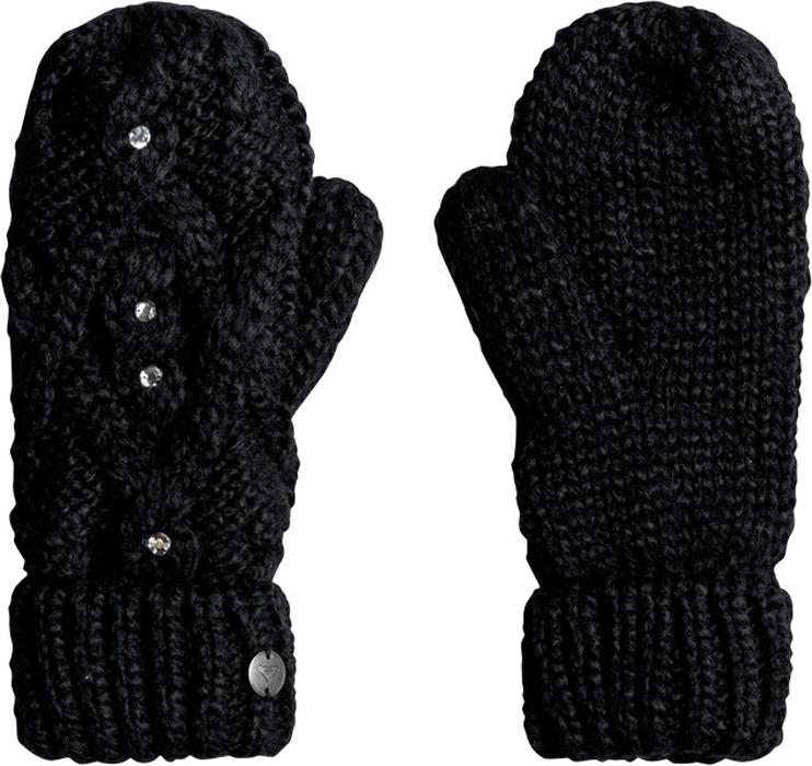 Варежки женские Roxy, цвет: черный. ERJHN03075-KVJ0. Размер универсальныйERJHN03075-KVJ0Теплые вязаные варежки Roxy не только защитят ваши руки от холода, но и станут великолепным украшением. Варежки, выполненные из акрила с добавлением полиэстера, сохраняют тепло, мягкие, идеально сидят на руке. Манжеты оформлены широкими отворотами, связанными резинкой. Такие варежки составят идеальный комплект с модной верхней одеждой, в них вам будет уютно и тепло!