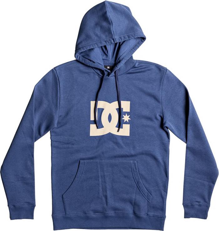 Толстовка мужская DC Shoes Star, цвет: синий. EDYSF03107-BSA0. Размер S (46)EDYSF03107-BSA0Толстовка от DC Shoes выполнена из хлопкового материала. Модель с длинными рукавами и капюшоном с затягивающимся шнурком спереди дополнена карманом кенгуру. Толстовка на груди декорирована принтом в виде фирменного логотипа бренда.