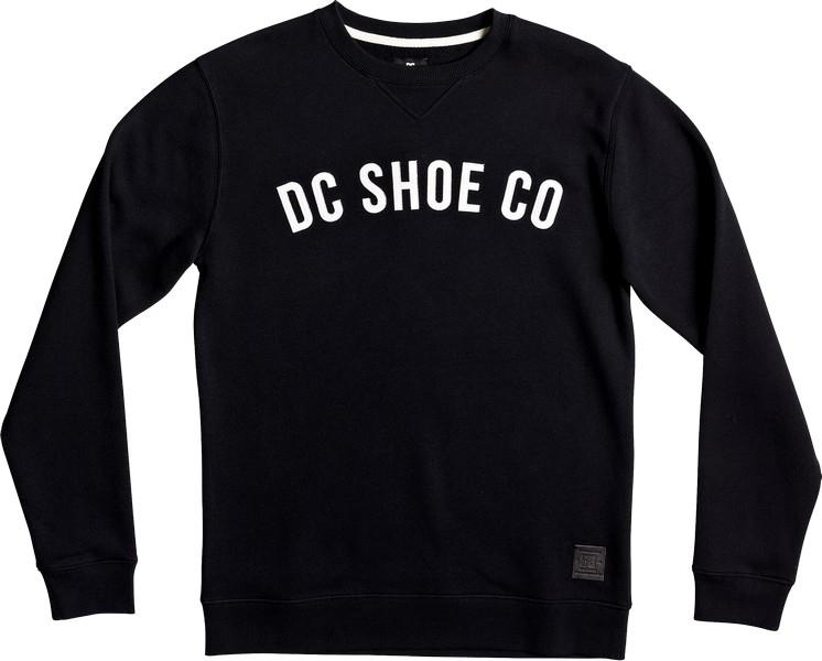 Свитшот мужской DC Shoes Ellis, цвет: черный. EDYFT03306-KVJ0. Размер XXL (54)EDYFT03306-KVJ0Свитшот от DC Shoes выполнен из хлопкового атериала. Модель из плотного материала с изнаночной стороны с начесом. Свитшот с длинными рукавами и округлым вырезом горловины на груди декорирован принтованной надписью.