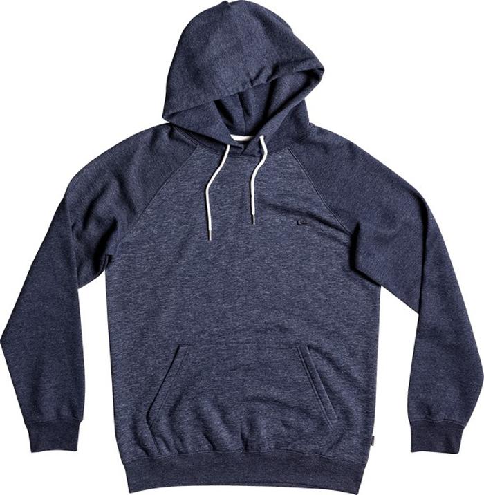 Толстовка мужская Quiksilver, цвет: антрацитовый, темно-фиолетовый. EQYFT03428-BYJ1. Размер M (48)EQYFT03428-BYJ1Мужская толстовка Quiksilver выполнена из теплой ткани средней плотности. Модель с капюшоном и длинными рукавами-реглан имеет спереди удобный карман-кенгуру. Капюшон на тканевой подкладке дополнен по краю затягивающимся шнурком. На рукавах предусмотрены манжеты. Изделие украшено вышитым логотипом на груди.