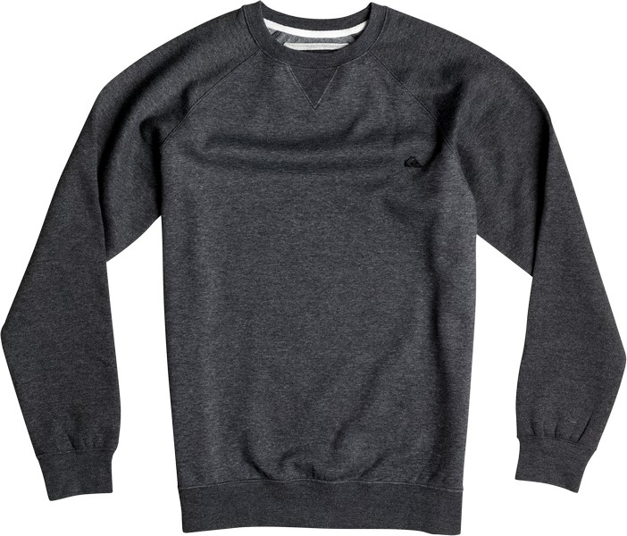 Свитшот мужской Quiksilver, цвет: темно-серый меланж. EQYFT03427-KTFH. Размер L (50)EQYFT03427-KTFHМужской свитшот Quiksilver выполнен из теплой ткани средней плотности. Модель с круглым вырезом горловины и длинными рукавами-реглан украшена вышитым логотипом на груди. На рукавах предусмотрены манжеты.