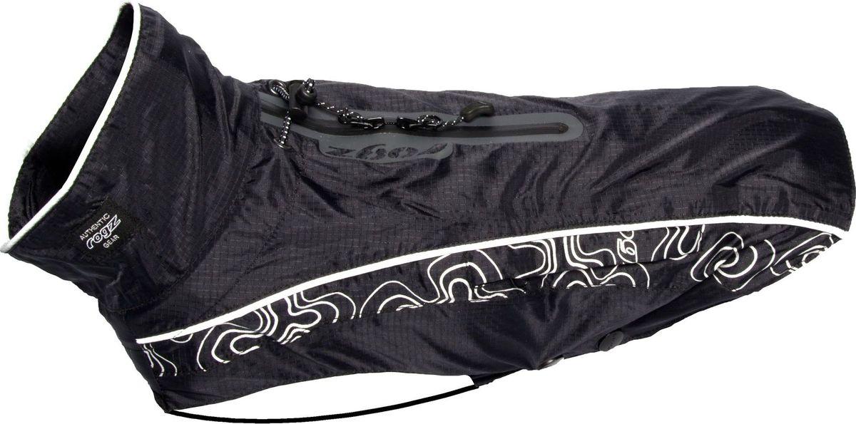 Попона-дождевик для собак Rogz RainSkin, унисекс, цвет: черный. Размер XXSDSR22AПопона-дождевик для собак Rogz RainSkin предназначена для прогулок в прохладные дни. Низ попона-дождевика выполнен из подкладочного полиэстера и PVC слоя, а верх из 100% нейлона Rip Stop. Попона имеет водоотталкивающую и водонепроницаемую ткань, пятна грязи на которой не впитываются в ткань и легко удаляются.Изделие имеет специальный карман для хранения, который удобно крепится на поводке или ошейнике. Кожа животного не перегревается. Специальная конструкция предотвращает защемление шерсти в зубья молнии и не вызывает раздражения на коже животного. Эластичные ремни могут перемещаться вправо или влево в зависимости от обхвата груди животного. Удобная застежка-молния располагается сбоку, а не под горлом. Данная система обеспечивает комфорт и удобство движения для активных животных. Специальная застежка на спине позволяет надевать попону вместе со шлейкой. Регулируемые вставки облегчают прилегание изделия к лапам.Ручная или машинная стирка. Одежда для собак: нужна ли она и как её выбрать. Статья OZON Гид