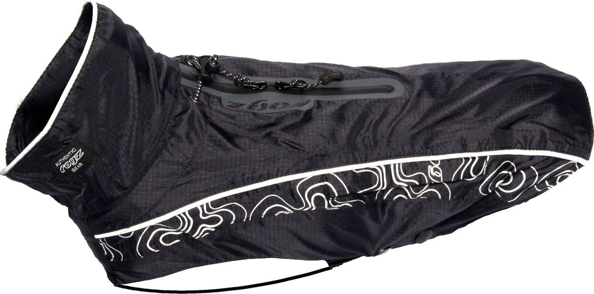 Попона-дождевик для собак Rogz RainSkin, унисекс, цвет: черный. Размер XS попона дождевик triol