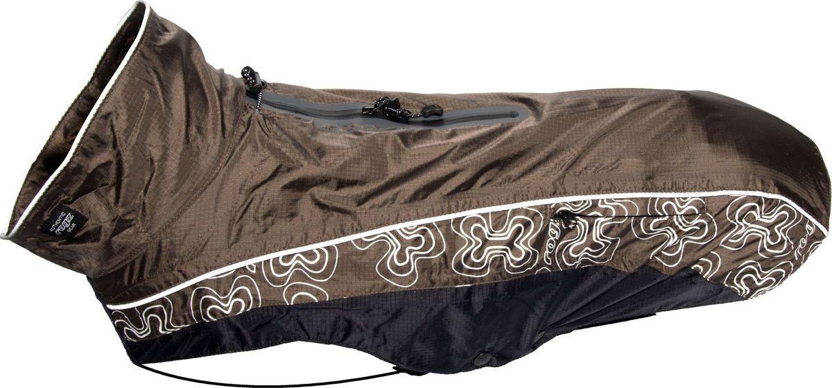 Попона-дождевик для собак Rogz RainSkin, унисекс, цвет: коричневый. Размер SDSR32JПопона-дождевик для собак Rogz RainSkin предназначена для прогулок в прохладные дни. Низ попона-дождевика выполнен из подкладочного полиэстера и PVC слоя, а верх из 100% нейлона Rip Stop. Попона имеет водоотталкивающую и водонепроницаемую ткань, пятна грязи на которой не впитываются в ткань и легко удаляются.Изделие имеет специальный карман для хранения, который удобно крепится на поводке или ошейнике. Кожа животного не перегревается. Специальная конструкция предотвращает защемление шерсти в зубья молнии и не вызывает раздражения на коже животного. Эластичные ремни могут перемещаться вправо или влево в зависимости от обхвата груди животного. Удобная застежка-молния располагается сбоку, а не под горлом. Данная система обеспечивает комфорт и удобство движения для активных животных. Специальная застежка на спине позволяет надевать попону вместе со шлейкой. Регулируемые вставки облегчают прилегание изделия к лапам.Ручная или машинная стирка. Одежда для собак: нужна ли она и как её выбрать. Статья OZON Гид