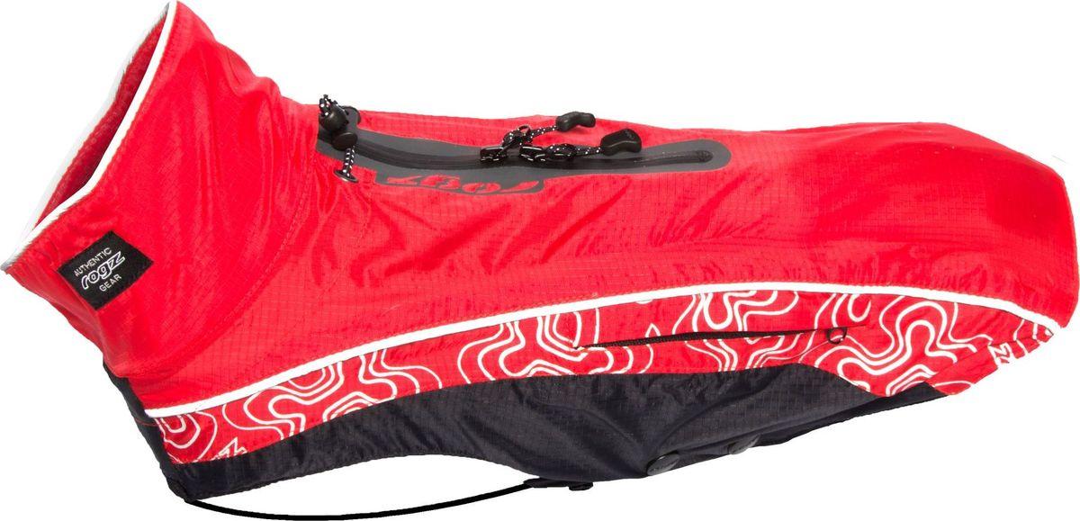 Попона-дождевик для собак Rogz RainSkin, унисекс, цвет: красный. Размер XXSDSR22СПопона-дождевик для собак Rogz RainSkin предназначена для прогулок в прохладные дни. Низ попона-дождевика выполнен из подкладочного полиэстера и PVC слоя, а верх из 100% нейлона Rip Stop. Попона имеет водоотталкивающую и водонепроницаемую ткань, пятна грязи на которой не впитываются в ткань и легко удаляются.Изделие имеет специальный карман для хранения, который удобно крепится на поводке или ошейнике. Кожа животного не перегревается. Специальная конструкция предотвращает защемление шерсти в зубья молнии и не вызывает раздражения на коже животного. Эластичные ремни могут перемещаться вправо или влево в зависимости от обхвата груди животного. Удобная застежка-молния располагается сбоку, а не под горлом. Данная система обеспечивает комфорт и удобство движения для активных животных. Специальная застежка на спине позволяет надевать попону вместе со шлейкой. Регулируемые вставки облегчают прилегание изделия к лапам.Ручная или машинная стирка.Одежда для собак: нужна ли она и как её выбрать. Статья OZON Гид