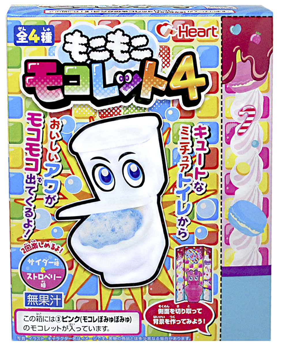 Heart Сделай Сам Унитаз десерт пенный с игрушкой, 84 г243247Японцы славятся своими сумасшедшими и веселыми игрушкам, и новый набор Heart не стал исключением! Унитаз, в бочок которого засыпается съедобный японский порошок, приготовит для вас пенную и вкусную содовую с двумя разными вкусами.