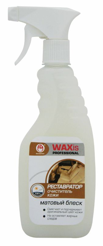 Очиститель кожи РМ WAXis Professional, 500 мл7801Cредство РМ WAXis Professional предназначено для очистки и защиты кожных поверхностей салона автомобиля, также может быть использован для предметов домашнего интерьера. Смягчает и подчеркивает оригинальный цвет кожи. Не оставляет жирного блеска и следов на поверхности.Товар сертифицирован.