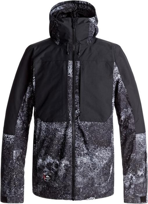 Куртка муж Quiksilver, цвет: темно-серый, светло-серый, антрацитовый. EQYTJ03121-WBK9. Размер XL (52)EQYTJ03121-WBK9