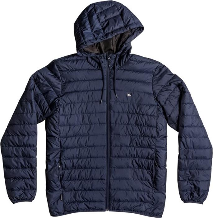 Куртка мужская Quiksilver Everydayscaly M Jckt, цвет: темно-синий. EQYJK03234-BYJ0. Размер L (50)EQYJK03234-BYJ0Мужская куртка Quiksilver Everydayscaly M Jckt выполнена из 100% полиэстера с синтепоновым утеплителем. Модель с воротником-стойкой и несъемным капюшоном застегивается на молнию спереди. Капюшон дополнен утягивающим шнурком. Спереди куртка дополнена двумя врезными карманами на молниях.