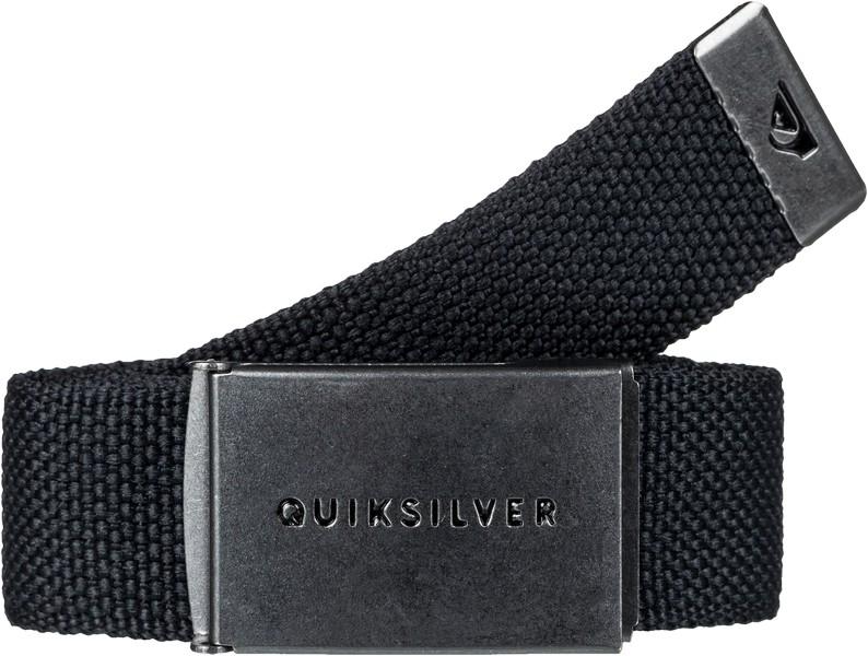 Ремень мужской Quiksilver Principle, цвет: черный. EQYAA03559-KVJ0. Размер универсальныйEQYAA03559-KVJ0Мужской ремень Quiksilver Principle выполнен из плетеного стрепа шириной 32 мм. Пряжка и кончик ремня выполнены из металла и оформлены эмалированными логотипами бренда.
