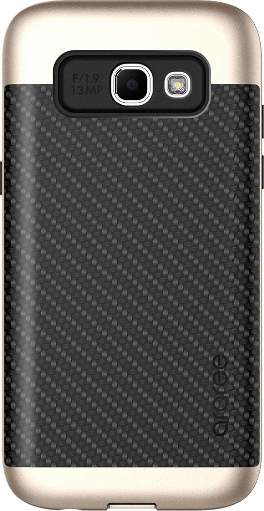 Araree Amy Classic чехол для Samsung A3 (2017), GoldAR20-00224AЧехол-накладка Araree Amy Classic для Samsung Galaxy A3 (2017) обеспечивает надежную защиту корпуса смартфона от механических повреждений и надолго сохраняет его привлекательный внешний вид. Накладка выполнена из высококачественного материала, плотно прилегает и не скользит в руках. Чехол также обеспечивает свободный доступ ко всем разъемам и клавишам устройства.