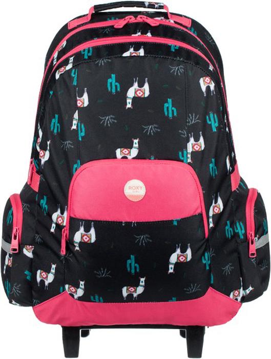 Рюкзак на колесах для девочки Roxy Free Spirit, цвет: темно-фиолетовый. ERLBP03024-KVJ7ERLBP03024-KVJ7Рюкзак на колесах Roxy Free Spirit подойдет для путешествий и отдыха. Модель изготовлена из прочного полиэстера с удобной набивной спинкой и имеет два основных отделения (формата А4) на молнии, лицевой карман и два боковых кармана на молниях. Выдвижная (телескопическая) ручка, отстегивающиеся широкие лямки регулируемой длины и эргономичная ручка для переноски обеспечивают удобство транспортировки рюкзака. Изделие оформлено светоотражающими элементами и нашивкой Roxy.