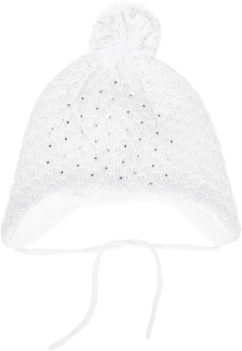 Шапка для девочки PlayToday Baby, цвет: белый. 178815. Размер 44 спортивные костюмы мужские пенза