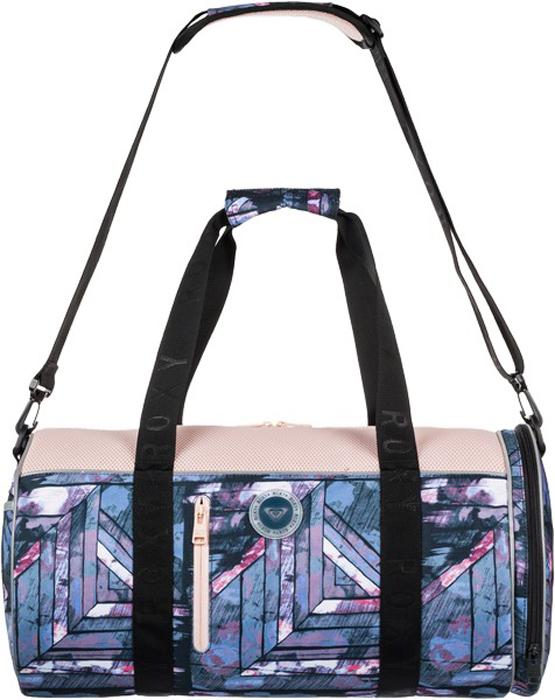 Сумка женская Roxy, цвет: антрацитовый, морская волна. ERJBP03556-KVJ5ERJBP03556-KVJ5Спортивная сумка Roxy выполнен из плотного текстиля. Закрывается на молнию. Внутри одно отделение и накладной карман, снаружи два кармана на молнии. Предусмотрен съемный плечевой ремень и удобная ручка для переноски.