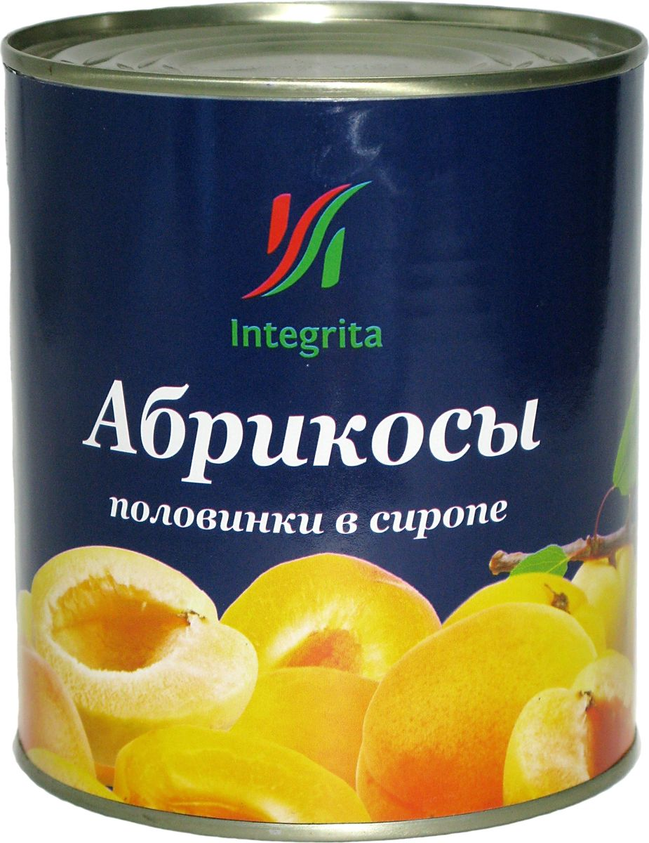Integrita абрикосы половинки в сиропе, 820 г