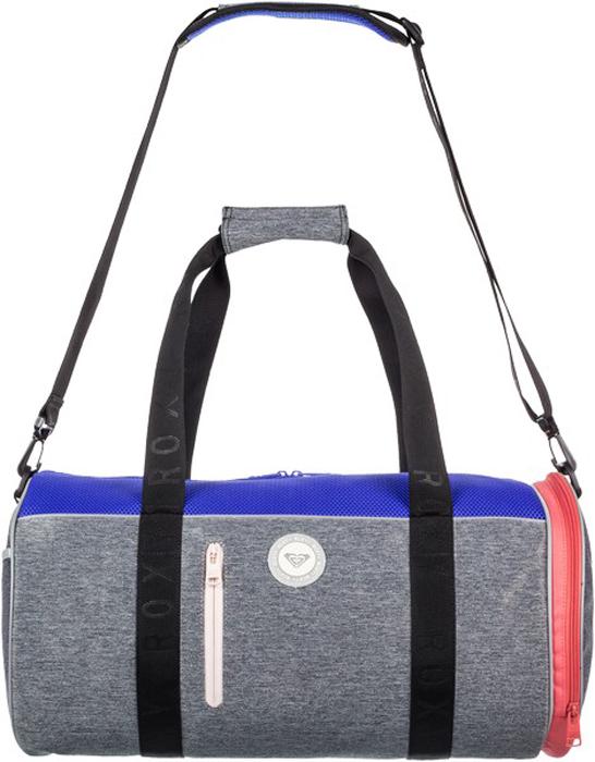 Сумка женская Roxy, цвет: серый, черный. ERJBP03556-KVJ0ERJBP03556-KVJ0Спортивная сумка Roxy выполнена из плотного текстиля. Закрывается на молнию. Внутри одно отделение и накладной карман, снаружи два кармана на молнии. Предусмотрены съемный плечевой ремень и удобная ручка для переноски.