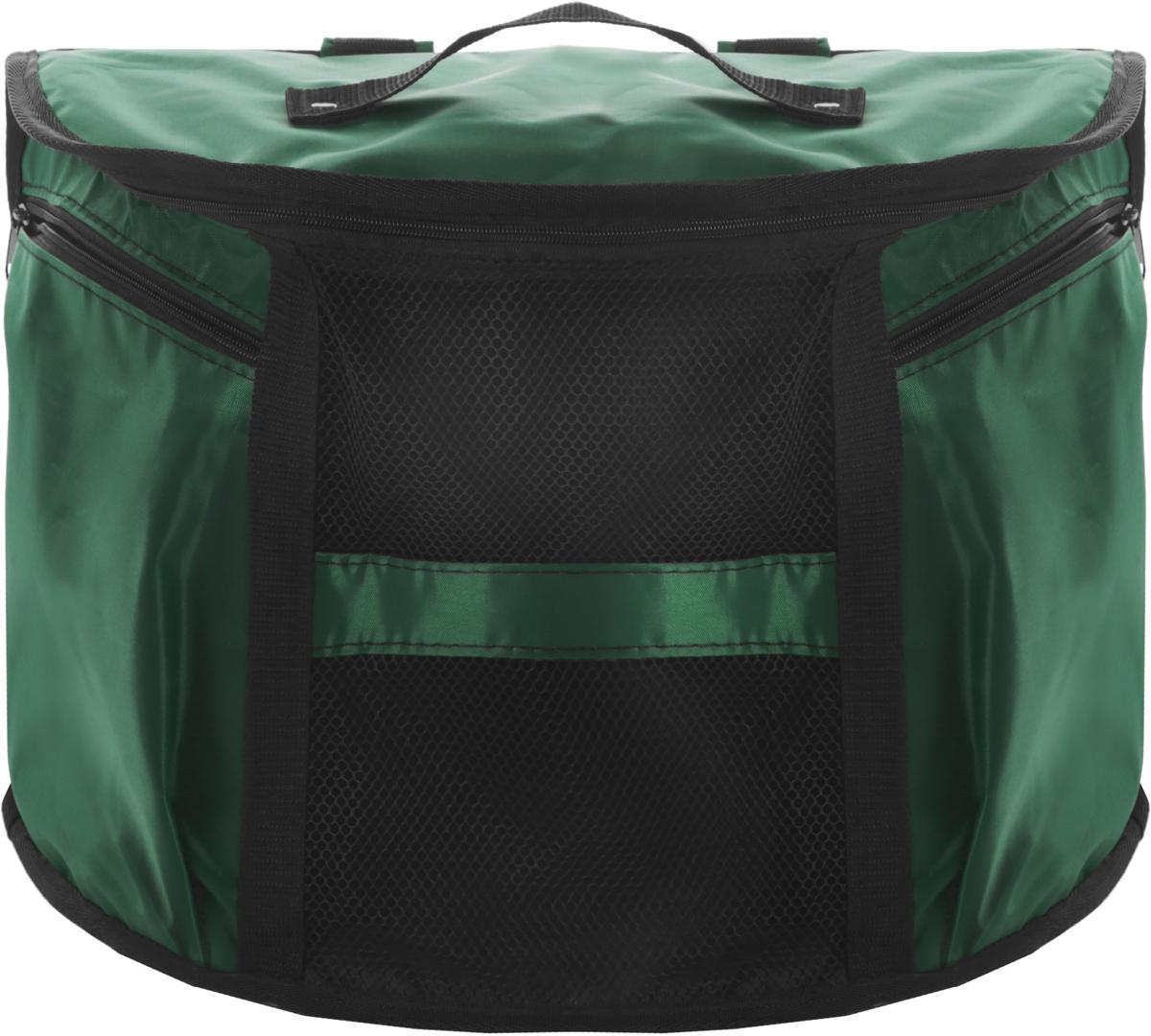 Рюкзак-переноска для кошек  Заря-Плюс , цвет: зеленый, черный, 37 х 19 х 29 см