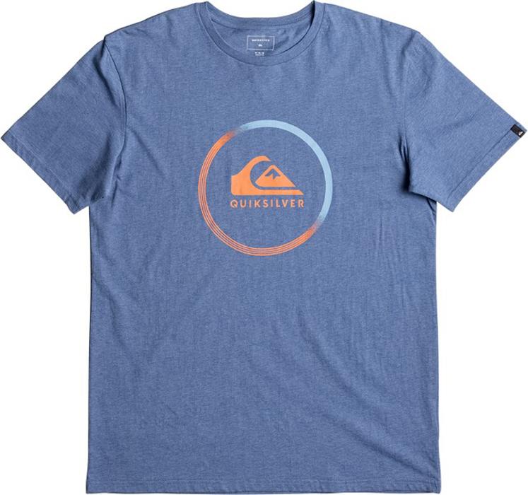Футболка мужская Quiksilver, цвет: голубой. EQYZT04519-BQSH. Размер S (46)EQYZT04519-BQSHМужская футболка Quiksilver выполнена из натурального хлопка. Модель с круглым вырезом горловины и короткими рукавами оформлена принтом.