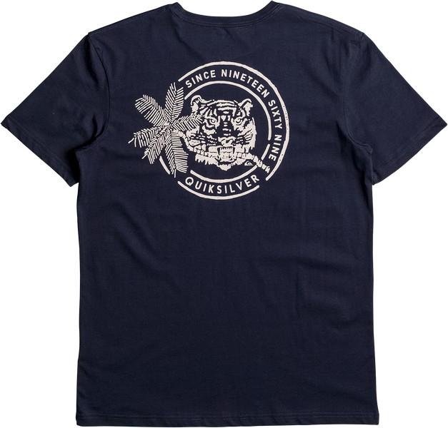 Футболка мужская Quiksilver, цвет: темно-синий. EQYZT04532-BYJ0. Размер XXL (54) футболка мужская quiksilver цвет белый eqyzt04285 wbb0 размер xxl 56