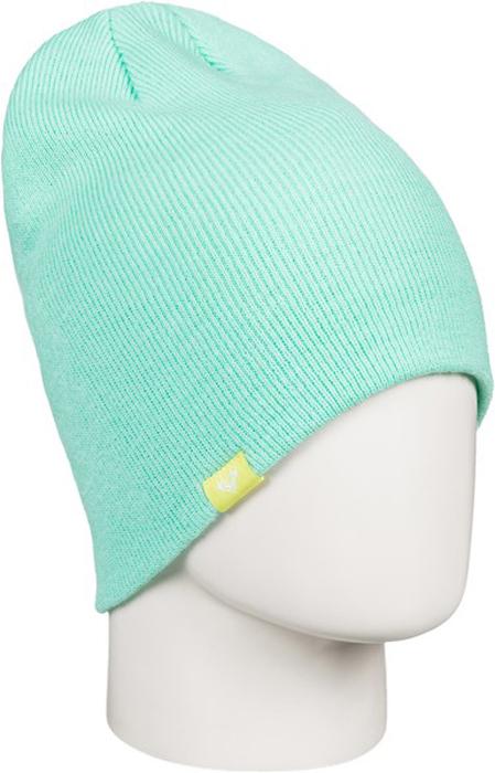 Шапка женская Roxy, цвет: бирюзовый. ERJHA03270-BFK0. Размер универсальныйERJHA03270-BFK0Женская шапка выполнена из высококачественного акрила, что позволяет ей великолепно сохранять тепло и обеспечивает высокую эластичность и удобство посадки.