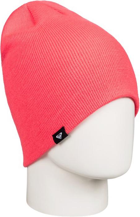 Шапка женская Roxy, цвет: коралловый. ERJHA03270-NKN0. Размер универсальныйERJHA03270-NKN0Женская шапка выполнена из высококачественного акрила, что позволяет ей великолепно сохранять тепло и обеспечивает высокую эластичность и удобство посадки.