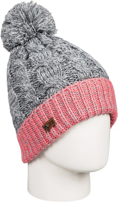 Шапка женская Roxy, цвет: светло-серый. ERJHA03273-SGRH. Размер универсальныйERJHA03273-SGRHСтильная женская шапка Anae дополнит ваш наряд и не позволит вам замерзнуть в холодное время года. Шапка крупной вязки выполнена из акрила, что позволяет ей великолепно сохранять тепло и обеспечивает высокую эластичность и удобство посадки.Шапка оформлена помпоном и объемными вязаными узорами.Такая шапка станет модным и стильным дополнением вашего зимнего гардероба. Она согреет вас и позволит подчеркнуть свою индивидуальность!