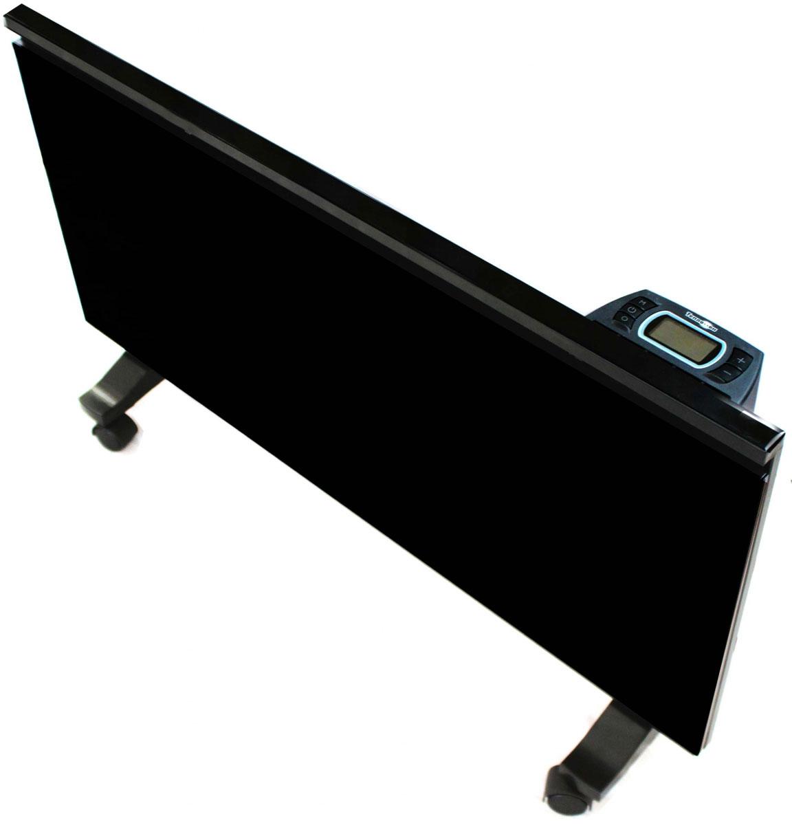 Теплофон Binar-1000, Black электрообогреватель1600000360471Обогреватель Теплофон Binar-1000 является новейшей разработкой российского производителя теплового оборудования. В инновационной разработке российского производителя совмещены два типа обогрева: конвекционный и инфракрасный.После включения комбинированного обогревателя Binar, на первом этапе, прогрев помещения происходит с помощью функции конвекционного обогрева, обеспечивающей быстрый прогрев воздушной массы в помещении. После выхода на заданную встроенным микропроцессорным терморегулятором температуру, происходит отключение энергопрожорливого конвекционного ТЭНа и включается экономичный инфракрасный ТЭН, представляющий собой переднюю стеклянную поверхность обогревателя, нагревающуюся до температуры 90°СВ результате такого инновационного подхода дальнейший догрев и подогрев помещения осуществляется с помощью энергосберегающей технологии инфракрасного обогрева. В то же время за счет конвекционного тэна происходит быстрый прогрев воздуха в помещении.Производителем предусмотрен вариант настенного крепления, с помощью настенного кронштейна, идущего в комплекте с обогревателем. Для использования в качестве напольного обогревателя, необходимо использовать ролики, которыми также комплектуется данная модель инфракрасного обогревателя.
