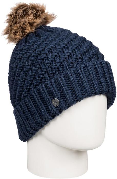 Шапка женская Roxy, цвет: темно-синий ERJHA03272-BTN0. Размер универсальныйERJHA03272-BTN0Стильная женская шапка Roxy Blizzard дополнит ваш наряд и не позволит вам замерзнуть в холодное время года. Шапка крупной вязки выполнена из акрила, что позволяет ей великолепно сохранять тепло и обеспечивает высокую эластичность и удобство посадки.Шапка оформлена помпоном и объемными вязаными узорами.Такая шапка станет модным и стильным дополнением вашего зимнего гардероба. Она согреет вас и позволит подчеркнуть свою индивидуальность!