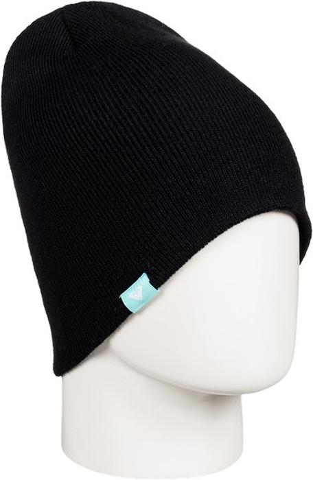 Шапка женская Roxy, цвет: черный. ERJHA03270-KVJ0. Размер универсальныйERJHA03270-KVJ0Женская шапка выполнена из высококачественного акрила, что позволяет ей великолепно сохранять тепло и обеспечивает высокую эластичность и удобство посадки.