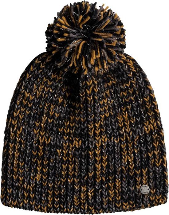 Шапка женская Roxy, цвет: черный. ERJHA03310-KVJ0. Размер универсальныйERJHA03310-KVJ0Стильная женская шапка дополнит ваш наряд и не позволит вам замерзнуть в холодное время года. Шапка выполнена из акрила, что позволяет ей великолепно сохранять тепло и обеспечивает высокую эластичность и удобство посадки.Шапка оформлена помпоном.Такая шапка станет модным и стильным дополнением вашего гардероба. Она согреет вас и позволит подчеркнуть свою индивидуальность!