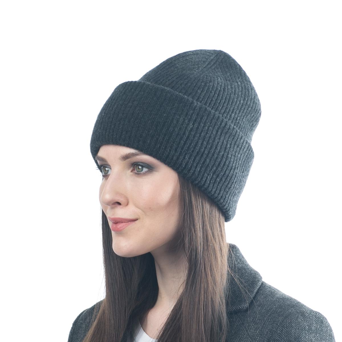 Шапка женская Flioraj, цвет: темно-серый. 08FJ. Размер 56/5808FJДвойная шерстяная шапка-колпачок от Flioraj, выполненная из овечьей шерсти, альпаки и кашемира, поднимет настроение и отлично согреет в холодную погоду. Состав пряжи делает изделие мягким, теплым и комфортным. Такую шапочку можно носить с любым видом верхней одежды, достаточно только определиться с цветом.
