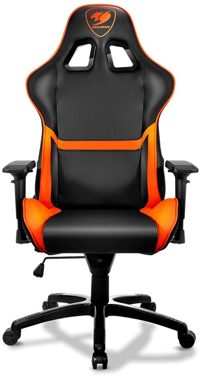 Cougar Armor, Black Orange игровое креслоCU-ARMORCougar Armor - настоящий игровой трон с мощной броней, для любителей поиграть в комфорте!Особенности:Непревзойденный комфортРегулируемый подлокотник 4DРаскладывание спинки на 180°Откидывание спинки с возможностью блокировкиУдобное мягкое сиденье с регулировкой высоты. Рекомендованная высота - 180 смРасчетная нагрузка - 120 кгПодлокотники 4DКолесики 5 см, полиуретанВысота кресла от 128 до 136 смРазмер сиденья 56 х 50 см.Броня Cougar - идеальное место для игроков профессионального уровня. Этот игровой стул - полностью регулируемый трон, который удовлетворит самых требовательных геймеров.