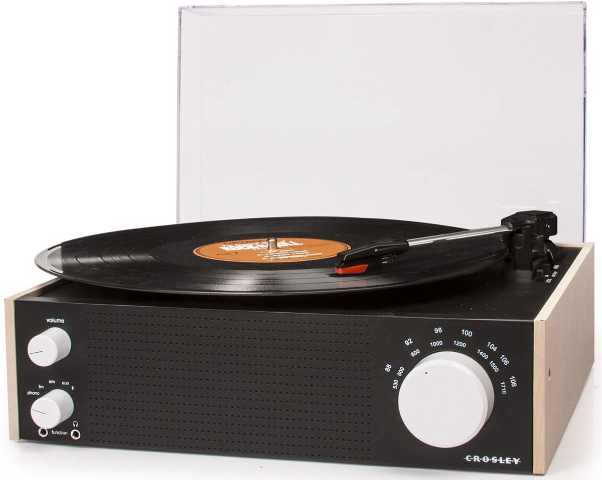 Crosley Switch FM-AM, Beige Black виниловый проигрыватель - Hi-Fi компоненты