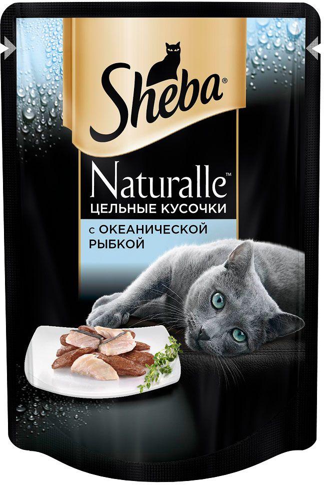 Корм консервированный Sheba Naturalle, для взрослых кошек, от 1 года, с рыбой, 80 г х 24 шт корм sheba пауч naturalle рыба 80g 10168280