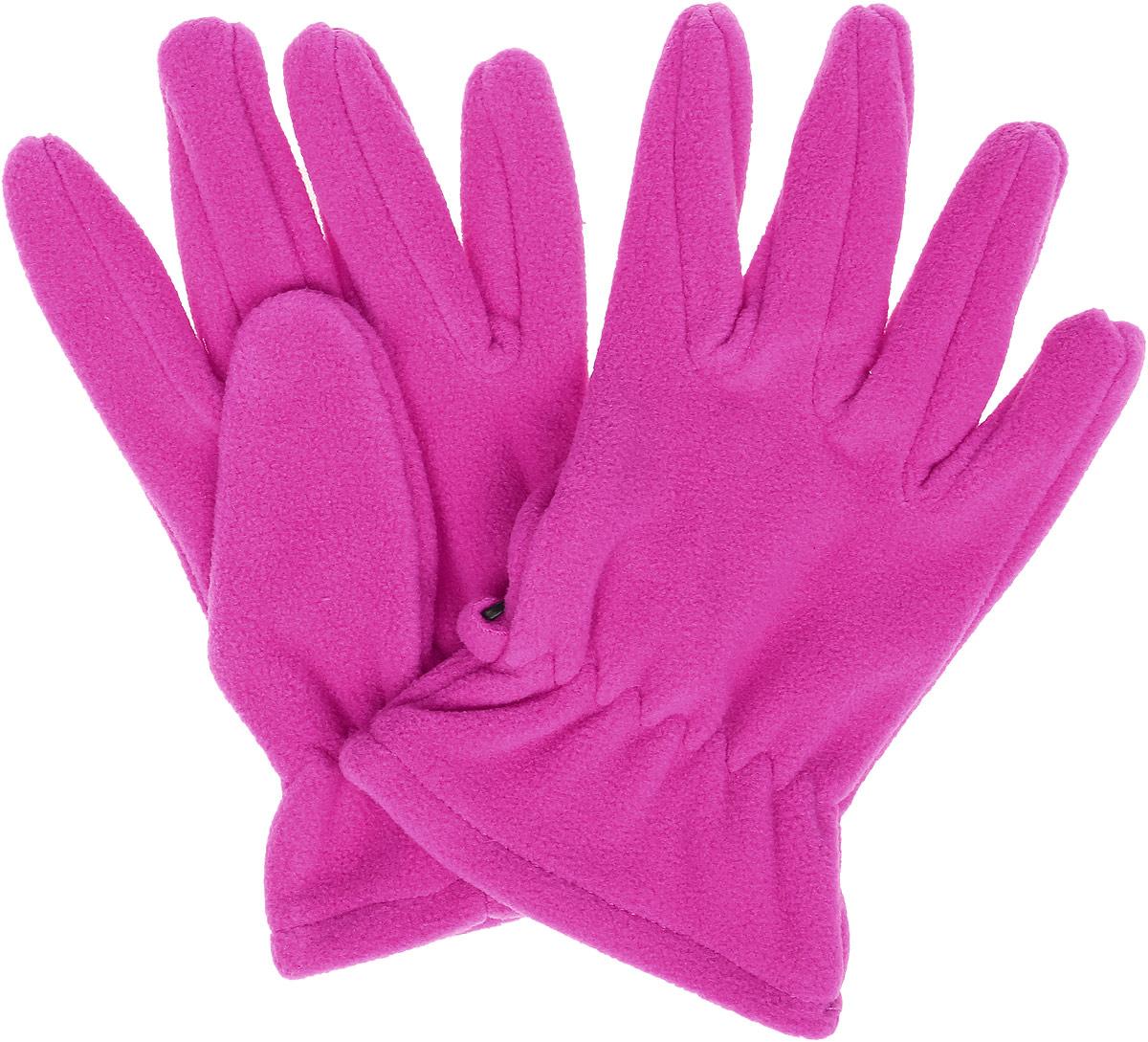 Перчатки для девочки S'cool, цвет: розовый. 374080. Размер 17