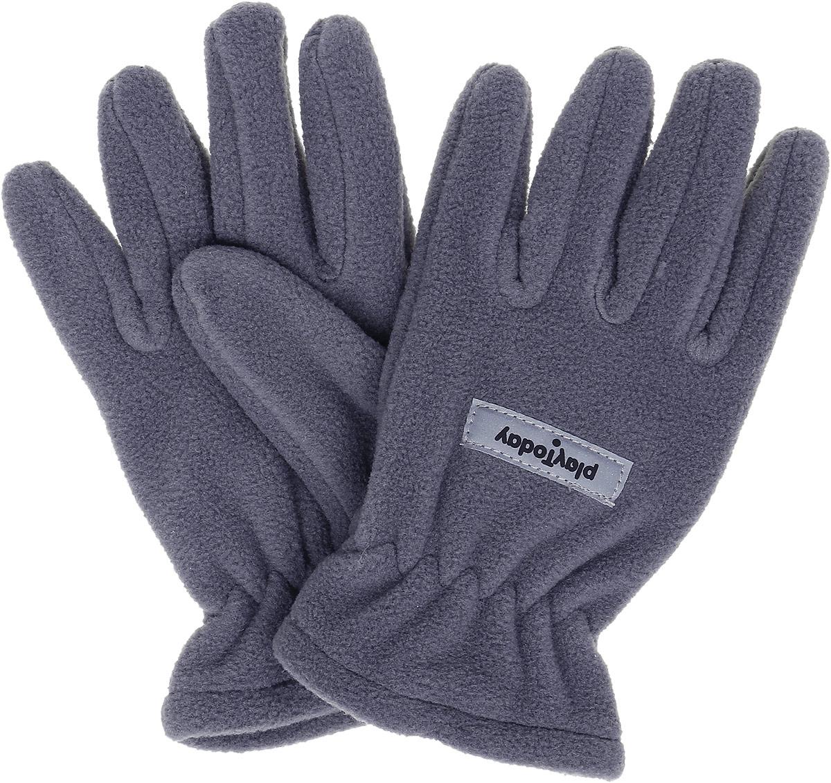 Перчатки для мальчика PlayToday, цвет: серый. 370012. Размер 14370012Перчатки из теплого флиса PlayToday - отличное решение для прогулок в холодную погоду. Запястья модели дополнены резинкой для комфортной посадки и дополнительного сохранения тепла. Перчатки дополнены специальными крючками, при необходимости их можно скрепить между собой или пристегнуть к куртке.