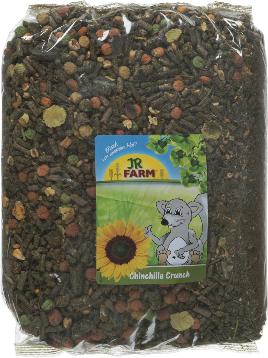 Корм для шиншилл JR Farm Crunch, 2,5 кг. 41867 камень для шиншилл jr farm жевательный 50 г