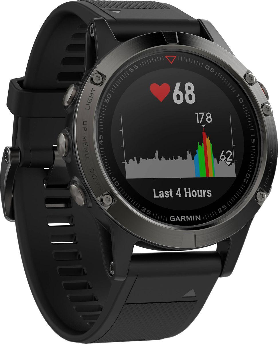 Часы спортивные Garmin  Fenix 5 Sapphire , цвет: черный. 010-01688-11 - Умные часы