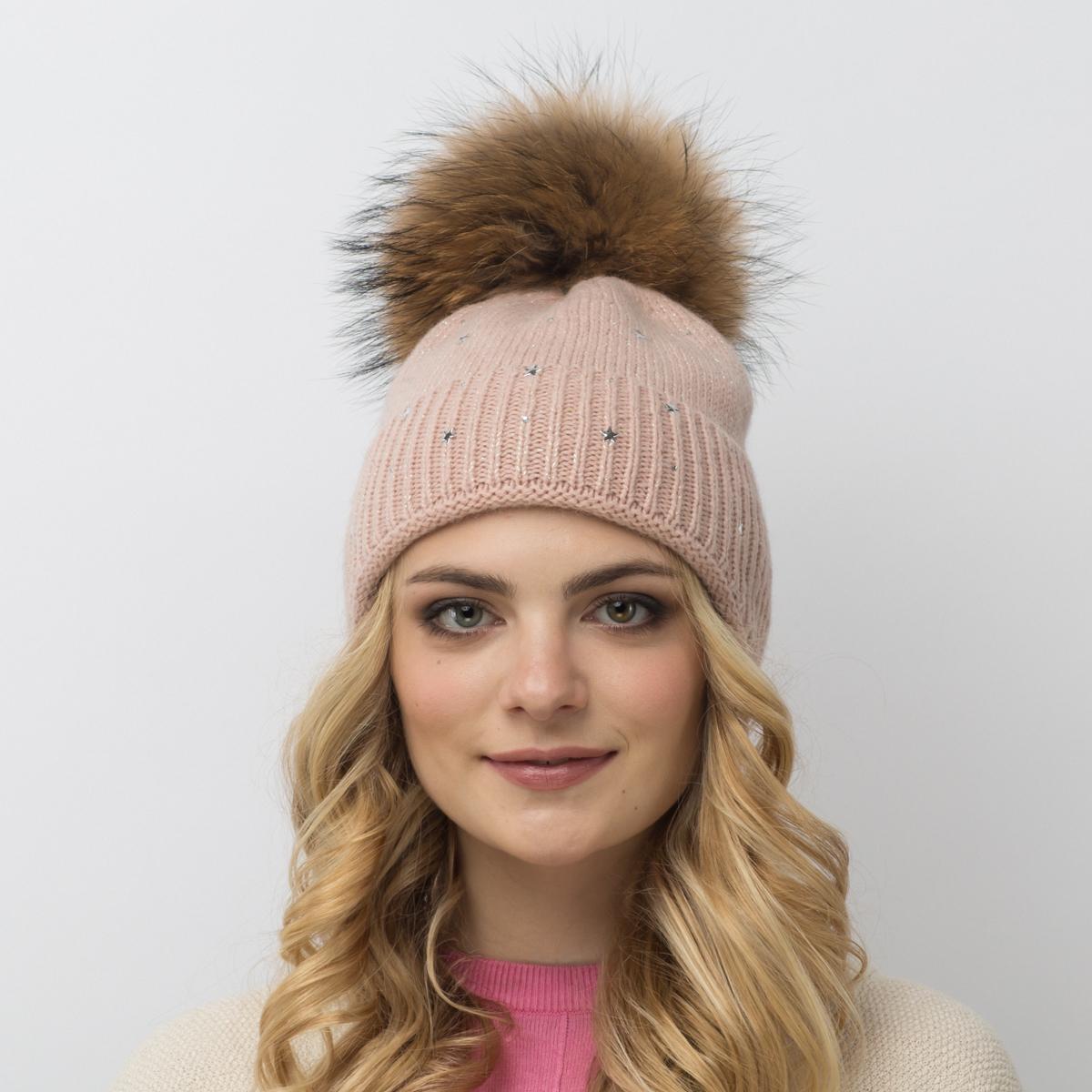 Шапка женская Flioraj, цвет: светло-коричневый. 714/1-М FJ. Размер 54/58714/1-М FJУдлиненная шерстяная шапка-колпачок от Flioraj - новинка женской коллекции. Такое нововведение отвечает последнему веянию - сделать женскую коллекцию более универсальной. Такую шапочку можно носить с любым видом верхней одежды, достаточно только определиться с цветом. Модель дополнена люрексом, звездочками и меховым помпоном.