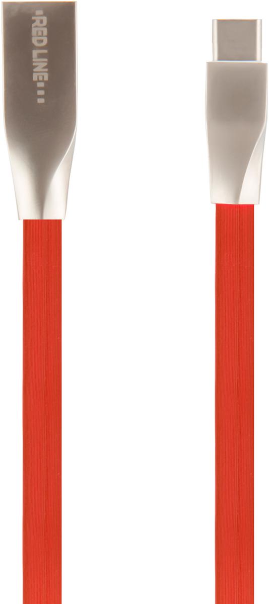 Red Line Smart High Speed USB, Red кабель USB/USB Type-C (1 м)УТ000011563Высокоскоростной кабель Red Line Smart High Speed USB с металлическими коннекторами для передачи данных между персональными компьютерами и смартфонами, планшетами и прочими устройствами с портом USB Type C. Кроме того, его можно подключить к адаптеру питания USB, чтобы зарядить устройство от розетки.