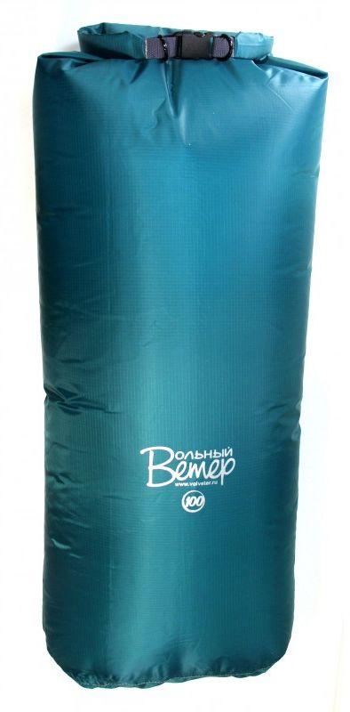 Гермомешок Вольный ветер Taffeta, цвет: зеленый, 100 л21011Гермомешок Taffeta - это лёгкий и вместительный гермомешок, изготовленный из ткани таффета. Такой сверхлёгкий гермомешок особенно актуален для походов в горы, где на счету каждый грамм. Гермомешок выполнен из материала с полиуретановым покрытием Nylon Taffeta PU 5000. Все швы гермомешка проварены полиуретановой пленкой. Для более качественной скрутки для закрывания - вдоль клапана пришита пластиковая лента. Если гермоупаковка из ПВХ отличается прочностью, то гермоупаковка из Таффеты - легкостью, притом что водостойкость у Таффеты - 5000 МВС. Рекомендуется использовать как непромокаемую вкладку в рюкзак или для дополнительной защиты особо ценных вещей: продуктов, аптечки, спальника. Высота полная: 120 см.Высота рабочая (без скрутки): 100 см. Ширина дна: 42 см.