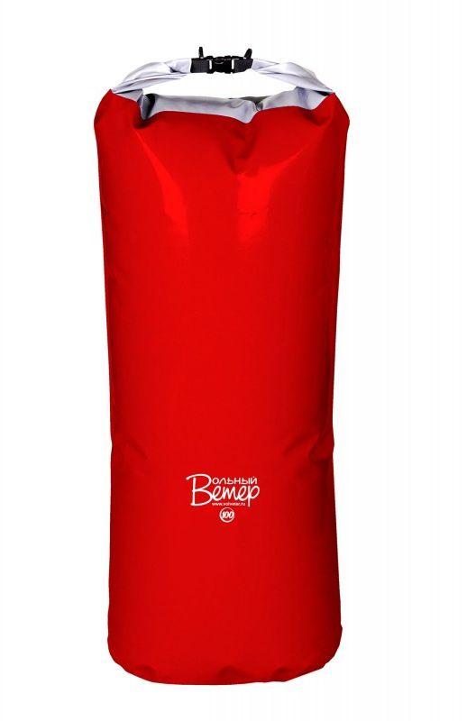 Гермомешок Вольный ветер, цвет: красный, 100 л21005Гермомешок объемом 100 л изготовлен из качественных синтетических тканей с двухсторонним покрытием ПВХ. Все швы проварены. Вдоль клапана пришита пластиковая лента, что обеспечивает более плотную скрутку и фиксацию клапана.Высота полная: 120 см.Высота рабочая (без скрутки): 100 см. Ширина дна: 42 см.