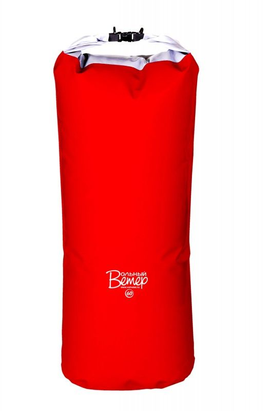 Драйбег Вольный ветер, цвет: красный, 60 л21025Драйбег Вольный ветер - герметичный рюкзак, который прекрасно подходит для путешествий на любые мероприятия связанные с водой. Вода не просочится через сложенную в несколько раз горловину упаковки, потому что плотно прижатые друг к другу гладкие внутренние стенки гермы надежно перекрывают все пути сырости. Драйбег изготовлен методом сварки на импортном оборудовании методом горячего клина из качественной ткани с 2-х сторонним пвх-покрытием, плотностью 600 гр/м.кв. К плюсам материала также можно добавить эластичность при отрицательных температурах. В подвесную систему входят две формованные удобные анатомичные S-образные лямки, крепящиеся на мешок при помощи строп и пряжек. Лямки позволяют грузить его значительно больше, чем обычные гермоупаковки и значительно облегчают переноску груженого мешка. Более того, за счёт удобных анатомичных лямок, драйбег можно использовать как обычный рюкзак. На самом мешке установлены четыре металлических полукольца, приваренных на станках с ТВЧ. Узлы и технология установки полуколец обеспечивают прочность и герметичность мешка даже при экстремально высоких нагрузках, превышающих реальную нагрузку мешка в 2-3 раза. Также эти металлические полукольца позволяют надёжно закрепить драйбег на катамаране, во время категорийного сплава, или в лодке во время простого путешествия. Высота полная: 106 см. Высота рабочая (без скрутки): 86 см. Ширина дна: 34 см.