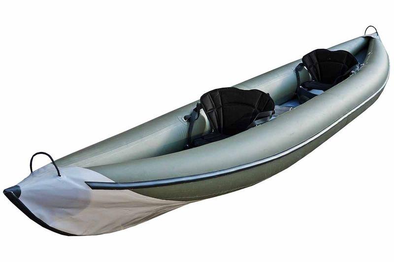 Каркасно надувная байдарка Вольный ветер Варяг 540, цвет: серый
