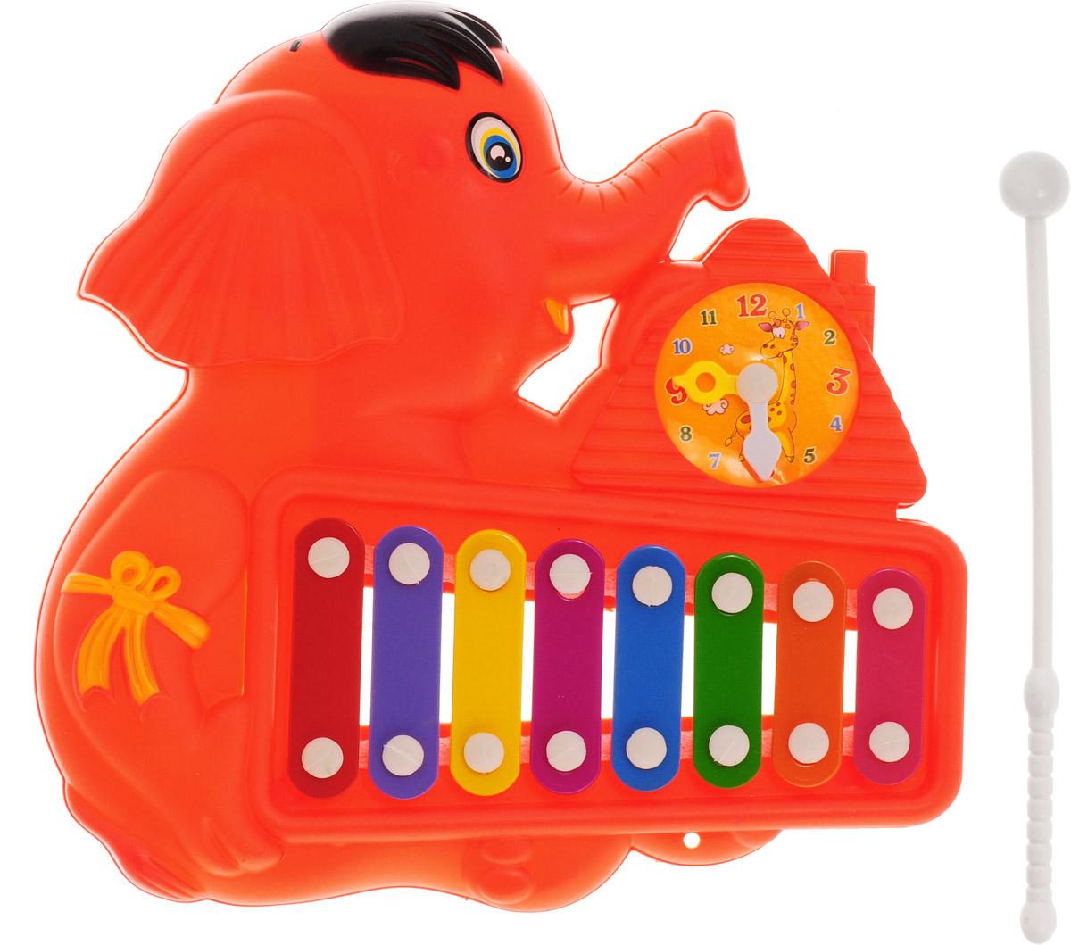 Veld-Co Металлофон Слоник цвет красный veld co игровой набор с куклой детский доктор