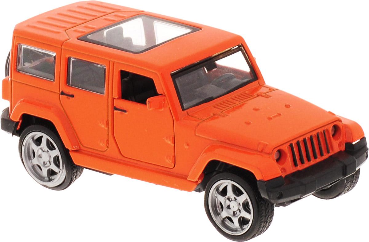 ТехноПарк Машинка инерционная Джип цвет оранжевый пламенный мотор машинка инерционная volvo пожарная охрана