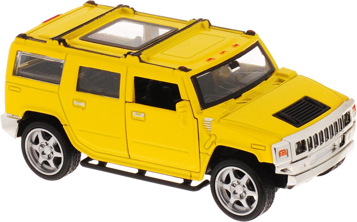 ТехноПарк Машинка инерционная Джип цвет желтый пламенный мотор машинка инерционная volvo пожарная охрана