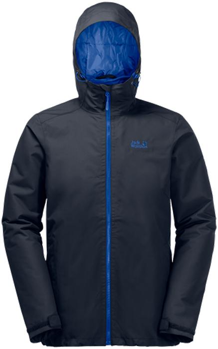 цена Куртка мужская Jack Wolfskin Chilly Morning M, цвет: темно-синий. 1108352-1010. Размер XXL (54) онлайн в 2017 году